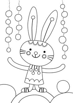 Pikku Kakkonen: Värityskuva Easter Coloring Pages, Animal Coloring Pages, Coloring For Kids, Colouring Pages, Coloring Books, Easter Activities For Kids, Crafts For Kids, Easter Printables, Free Printable Coloring Pages