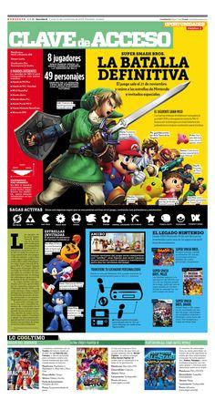 Super Smash Bros para Wii U y 3DS  #SmashBros #Nintendo #editorial #infographic #infografia #zelda #sonic #mario