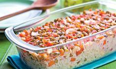 Receita de Arroz de forno rápido - Arroz e risoto - Dificuldade: Fácil - Calorias: 179 por porção