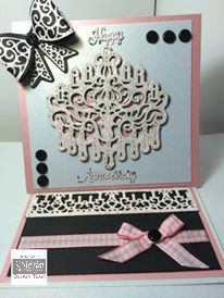 6x6 easel card made with Crafter's Companion Die'sire Everyday Create-a-Card Cut In Dies –  Crown and Glory. Designed by Debbie James #crafterscompanion