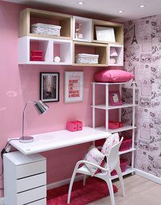 49 Most Popular Study Table Designs « knoc knock Study Table Designs, Study Room Design, Study Room Decor, Cute Room Decor, Room Ideas Bedroom, Home Room Design, Home Decor Bedroom, Girls Bedroom, My Room