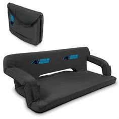 Carolina Panthers Black Reflex Portable Couch at www.SportsFansPlus.com