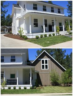 Love modern farmhouse w brown accent instead of typical red