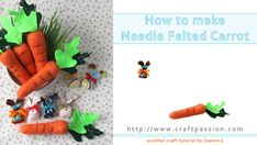 felted 3D carrot