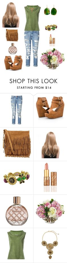 """""""going out with friends"""" by prettycarole ❤ liked on Polyvore featuring Current/Elliott, Ashley Stewart, Polo Ralph Lauren, tarte, Barbour, Diane James, DESA, Chico's and Janna Conner"""