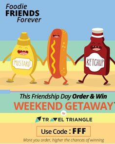 Foodpanda is offering This Friendship Day Special order & Win Weekend Getaway How to catch the offer: Click here for offer page Select your food Apply offer code FFF Make final payment