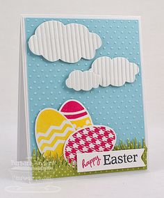 Happy Easter - MFT February Teasers, Day One by Bar - Cards and Paper Crafts at Splitcoaststampers Scrapbook Cards, Scrapbooking, Easter Greeting Cards, Easter Card, Holiday Cards, Christmas Cards, Cricut Cards, Kids Cards, Easter Crafts