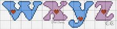 Bashir,manessa and elana Cross Stitch Alphabet, Free Crochet, Embroidery Designs, Free Pattern, Bb, Cross Stitch Fairy, Cross Stitch Love, Cross Stitch Letters, Cross Stitch Art