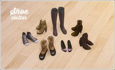 """lina-cherie: """"7 decorative shoes with various meshes from Ts2 • Nouk boots • Sentate emma boots • Sentate goth boots • Kielen boots • Katelys converse • Katelys ballerinas • Katelys boots - every link is broken :("""