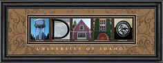 Idaho Campus Letter Art #UniversityofIdaho