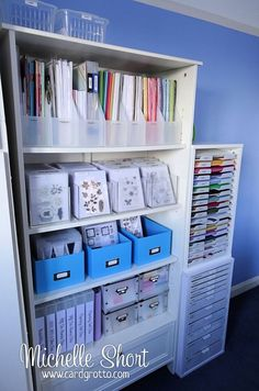 Storage Ideas | Scrapbooking | Craft Rooms | Creative Scrapbooker Magazine #storage #scrapbooking #rooms