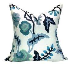 Alan Campbell Potalla pillow cover in Multi Blues on White White Pillows, Accent Pillows, Throw Pillows, Alan Campbell, White Pillow Covers, Modern Colors, Home Decor Fabric, White Houses, Color Of The Year