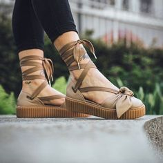 0bf04dac5d84 Image result for fenty puma bow creepers Sandals Outfit
