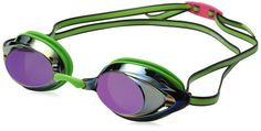 Speedo Vanquisher 2.0 Mirrored Goggles Key Lime One Size  #Speedo