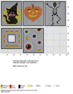 HALLOWEEN TISSUE BOX COVER by KATHY FRANKLIN                                                                                                                                                     More