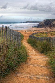 Path to the Beach - Saint-Pierre-Quiberon, Brittany, France