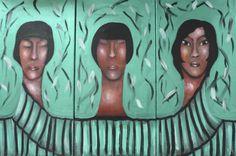 "VWL/ASIA/009 (A,B,C)  (Paris 2013 ""Greentych"")-Acrylic on canvas/Acrylique sur toile/Acrylico sobre tela (30X60cm)"