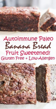 AIP and Paleo Banana Bread - gluten free, grain free, egg free, nut free, dairy free, and no sugar added! Autoimmune protocol [low allergen and anti-inflammatory recipes from rally pure]