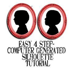 Hacer una silueta en cuatro pasos.