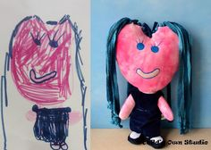 Send you child's art work to this company and they make a stuffed animal of that drawing for your child.     Child's Own Studio is a place where your child and a craft artist, together, can create a keepsake to be cherished for a lifetime.