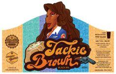 Guerrinha – Ilustração e design Rótulo de Cerveja - Jackie Brown - Guerrinha… Jackie Brown, E Design, Disney Characters, Fictional Characters, Disney Princess, Black, 1970s, Openness, Black People