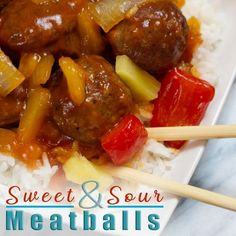 Sweet and Sour Meatballs made easily in the Instant Pot. 5 Minute Recipe, Kid approved #sweetandsourmeatballs