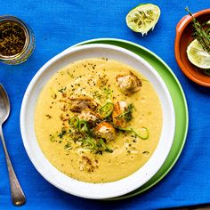 Curried Cauliflower Soup with Lime Croutons | sheerluxe.com