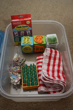 Busy Boxes/ Quiet Time Bins for toddlers