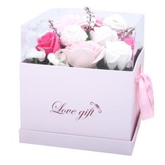 Beautiful big pink soap roses in a gift box - perfect as a gift or decoration. Creative Wedding Gifts, Creative Decor, Artificial Flower Arrangements, Artificial Flowers, Flowers Australia, Rose Soap, Luxury Soap, Flower Oil, Perth