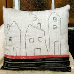 Whimsical drawing with thread created these great pillows!
