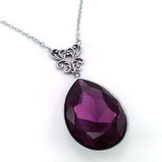 Amethyst Crystal Necklace Swarovski Elements by TheArtofCrystal