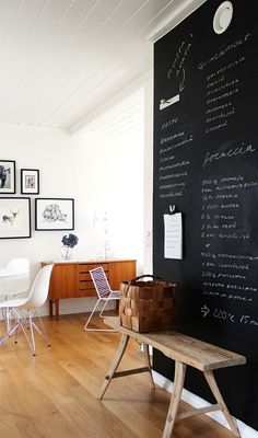 ◇ Blog Home by Agnès ◇ Via Pihkala | Black and White | Eames DSR | Blackboard