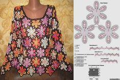 Crochet World, Crochet Books, Crochet Chart, Crochet Stitches, Crochet Poncho, Knit Crochet, Crochet For Beginners, Beautiful Crochet, Crochet Clothes