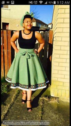 Cute and flirty African Fashion Dresses, African Dress, Modest Fashion, Fashion Outfits, Shweshwe Dresses, Engagement Outfits, Flat Belly, Short Skirts, Cheer Skirts