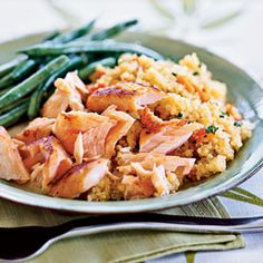 Cooking with Quinoa: 25 Recipes | Quick-Cured Sake Salmon with Quinoa | CookingLight.com