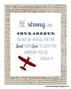 Printable Scripture, word scripture art, Joshua 1:9