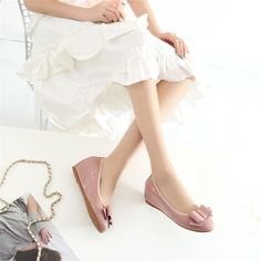3b21a10b96586 MsStor Mary Janes Décolleté Scarpe Donna Shallow Sweet Wedges Scarpe donna  Nodo a farfalla Zapatos Mujer