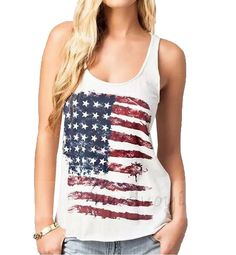 Generic Womens American Flag vintage Loose Blouse Tees * Want to know more, click on the image.