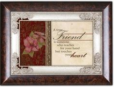 A True Friend Touches Your Heart Dark Wood Finish Jewelry Music Box Plays Tune Amazing Grace ** You can find more details by visiting the image link.