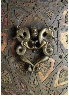 A door detail from Turkey/ Cizre Ulu Camii Kapı Tokmağı