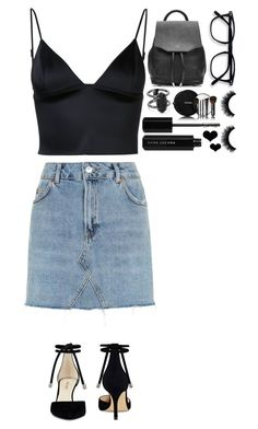 """""""Untitled #389"""" by dutchfashionlover ❤ liked on Polyvore featuring T By Alexander Wang, Topshop, Nine West, Marc Jacobs, Chanel, rag & bone, Kendra Scott and Brika"""