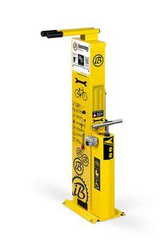Bike Repair Station with door | Fahrrad Reparaturstation | Stacja Naprawy Rowerów | Station de réparation de vélo | stazione di riparazione per biciclette | estación de reparación de bicicletas