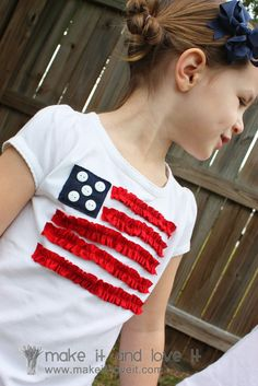 Cute  kids' shirt for 4th of July.