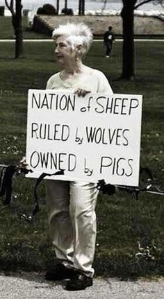 Why is everyone so blind as to what is going on?!? Free handouts buys your silence and consent??? Stop being sheeple!!