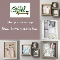 baby birth shadow box scatola dei ricordi