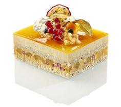 Exotique - Mousse légère et crémeux aux fruits exotiques, ananas frais au sirop, fraises des bois, biscuit moelleux noix de coco
