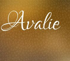 Alternate spelling Avalee - List of the most beautiful baby products Baby Girl Names Unique, Cute Baby Names, Unique Names, Boy Names, Name Inspiration, Baby Name List, Female Names, Names With Meaning, Character Names