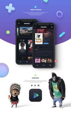 One of presentation screens.  I present you mobile version of Kinogo.