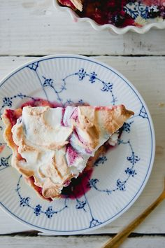 Huckleberry Lemon Meringue Pie