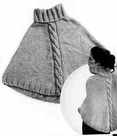 Have a look at our big variety of girls' jacket inclusive of puffer jacket, down top, quilted shirt. Crochet Poncho, Love Crochet, Easy Knitting, Knitting Patterns, Poncho Lana, Puffer Vest Outfit, Sweater Hat, Handmade Clothes, Crochet Clothes